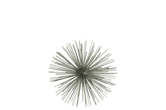 UTC21905 Metal Sea Urchin Ornamental Sculpture Decor SM Coated Finish Champagne