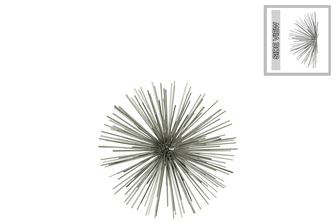 UTC21908 Metal Sea Urchin Ornamental Sculpture Wall Decor SM Coated Finish Champagne
