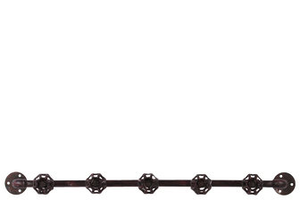 UTC21911 Metal Coat Hanger with Plumbing Theme and 5 Valve Hooks Rust Finish Brown