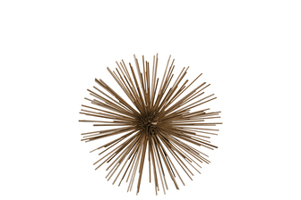 UTC21922 Metal Sea Urchin Ornamental Sculpture Decor MD Coated Finish Gold