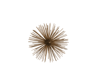 UTC21923 Metal Sea Urchin Ornamental Sculpture Decor SM Coated Finish Gold