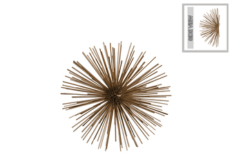 UTC21925 Metal Sea Urchin Ornamental Sculpture Wall Decor MD Coated Finish Gold