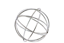 UTC21938 Metal Orb Dyson Sphere Design SM Coated Finish Silver