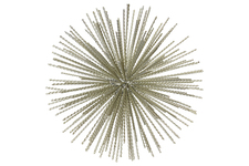 UTC21945 Metal Sea Urchin Ornamental Sculpture LG Coated Finish Champagne