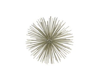 UTC21947 Metal Sea Urchin Ornamental Sculpture MD Coated Finish Champagne