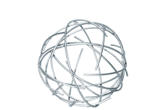 UTC21954 Metal Orb of Dyson Sphere Sculpture with Broken Rings SM Coated Finish Silver