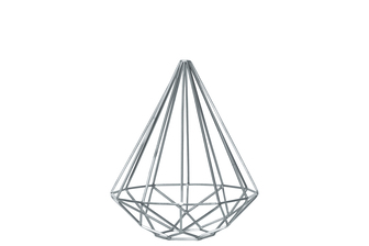 UTC21959 Metal Abstract Triangle Sculpture with Tapered Bottom SM Coated Finish Silver