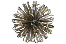 UTC25842 Metal Ball of Looped Ribbon Sculpture LG Electroplated Finish Champagne