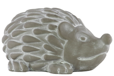 UTC28336 Terracotta Standing Hedgehog Figurine LG Washed Finish Gray