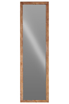UTC32218 Wood Rectangular Floor Mirror Natural Wood Finish Brown