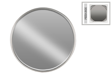 UTC32257 Metal Round Mirror with Tubular Frame and Window Box SM Coated Finish Gunmetal Gray