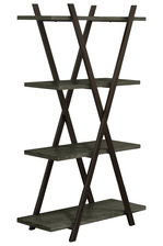 UTC32291 Wood Rectangular Shelf with 4 Tier and Metal Frame Coated Finish Black