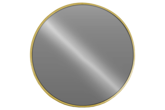 UTC34081 Metal Round Wall Mirror Metallic Finish Gold