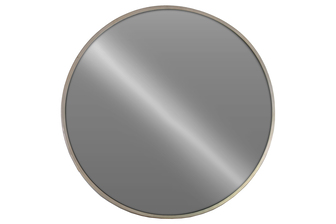 UTC34082 Metal Round Wall Mirror Metallic Finish Silver