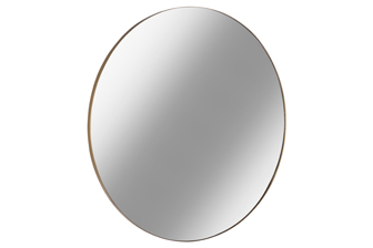 UTC34092 Metal Round Wall Mirror with Frame LG Metallic Finish Gold