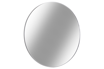 UTC34093 Metal Round Wall Mirror with Frame LG Metallic Finish Silver