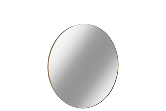 UTC34094 Metal Round Wall Mirror with Frame SM Metallic Finish Gold