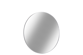UTC34095 Metal Round Wall Mirror with Frame SM Metallic Finish Silver
