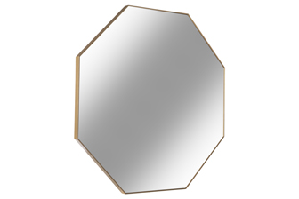 UTC34096 Metal Octagon Wall Mirror with Frame Metallic Finish Gold