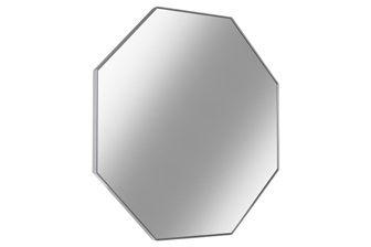 UTC34097 Metal Octagon Wall Mirror with Frame Metallic Finish Silver