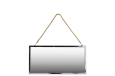 UTC34507 Stainless Steel Rectangular Mirror with Rope Hanger SM Polished Chrome Finish Silver