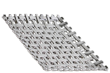 UTC35302 Ceramic Square Concave Tray with Woven Design Polished Chrome Finish Silver