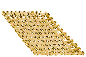 UTC35317 Ceramic Square Concave Tray with Woven Design Polished Chrome Finish Gold