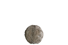 UTC35716 Cement Ornamental Sphere with Embossed Swirl Design SM Washed Finish Gray