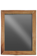 UTC37065 Wood Rectangular Wall Live Edge Mirror LG Distressed Finish Brown
