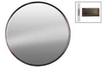 UTC37516 Metal Round Wall Mirror LG Tarnished Finish Bronze