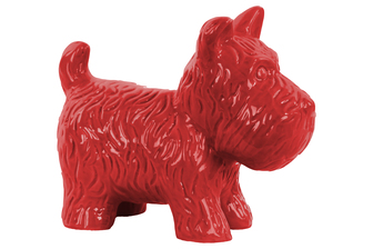 UTC38465 Ceramic Standing Welsh Terrier Dog Figurine Gloss Finish Red