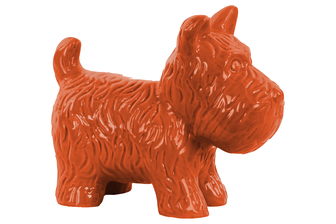 UTC38466 Ceramic Standing Welsh Terrier Dog Figurine Gloss Finish Orange