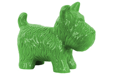 UTC38467 Ceramic Standing Welsh Terrier Dog Figurine Gloss Finish Green