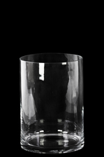 UTC38907 Glass Wide Cylinder Vase with Round Mouth SM Clear Glass Finish Achromatic