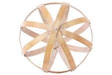 UTC39307 Bamboo Orb Dyson Sphere Design (5 Circles) LG Natural Wood Finish Light Brown