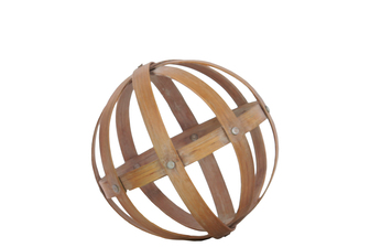 UTC39308 Bamboo Orb Dyson Sphere Design (5 Circles) MD Natural Wood Finish Brown