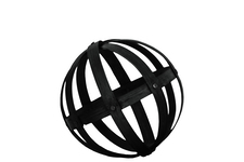 UTC39335 Bamboo Orb Dyson Sphere Design (5 Circles) MD Painted Finish Black