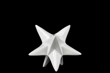 UTC39705 Ceramic Stellated Dodecahedron Sculpture SM Gloss Finish White