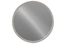 UTC40773 Metal Round Wall Mirror Tarnished Finish Silver