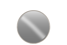 UTC40785 Metal Round Wall Mirror MD Tarnished Finish Antique Silver