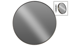 UTC40813 Metal Round Wall Mirror LG Metallic Finish Gray