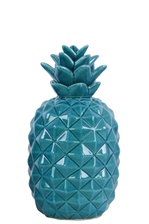 UTC43051 Ceramic Pineapple Figurine SM Gloss Finish Blue