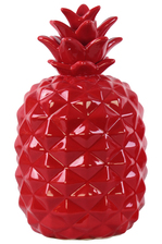 UTC43052 Ceramic Pineapple Figurine LG Gloss Finish Red
