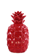 UTC43053 Ceramic Pineapple Figurine SM Gloss Finish Red