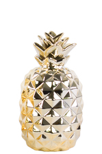 UTC43057 Ceramic Pineapple Figurine SM Polished Chrome Finish Gold