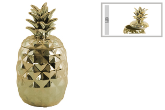 UTC43715 Ceramic 60 oz. Pineapple Canister Coated Finish Gold