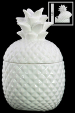 UTC44200 Ceramic 20 oz. Pineapple Canister SM Gloss Finish White