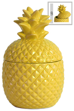 UTC44202 Ceramic 20 oz. Pineapple Canister SM Gloss Finish Yellow