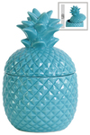 UTC44203 Ceramic 20 oz. Pineapple Canister SM Gloss Finish Blue