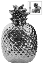 UTC44204 Ceramic 20 oz. Pineapple Canister SM Polished Chrome Finish Silver